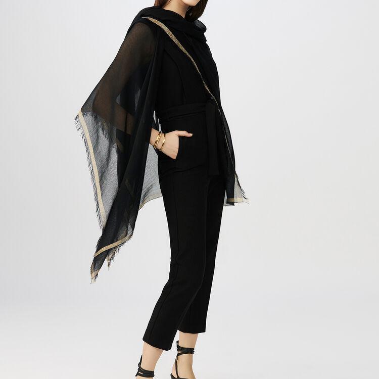 Sleeveless jumpsuit : Jumpsuits color Black 210