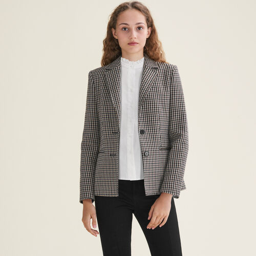 Fitted tailored jacket : Coats & Jackets color Jacquard