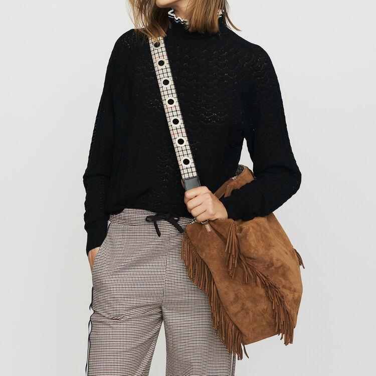 Elastic waist plaid pants : Office Chic color CARREAUX
