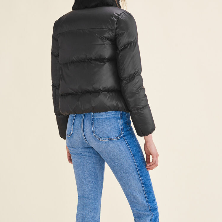 Cropped quilted down jacket : Coats & Jackets color Black 210