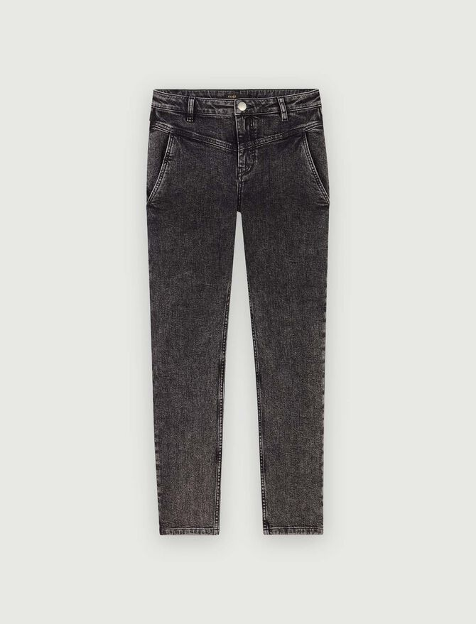 Straight-cut ripped jeans with pockets - Pants & Jeans - MAJE