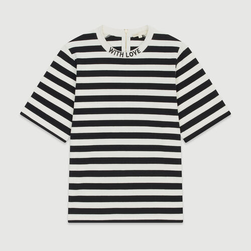 Bicolor striped T-shirt : Tops & Shirts color Stripe