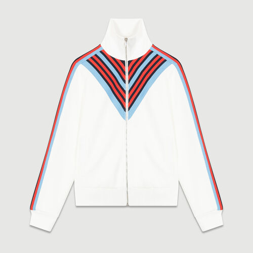 Track jacket : Coats & Jackets color WHITE