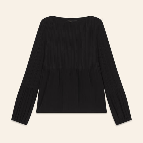 Top with lining : The Spring Essentials color Black 210