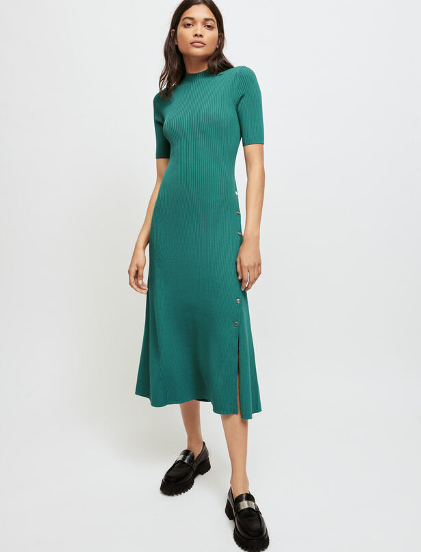 Maje Ribbed knit dress