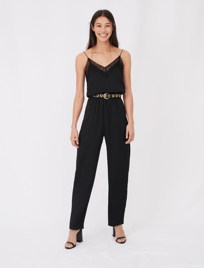Satin jumpsuit -  - MAJE
