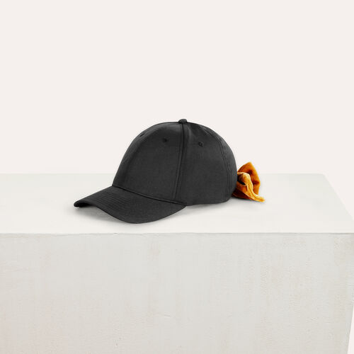 6-panel cap with velvet bow : All accessories color Black 210