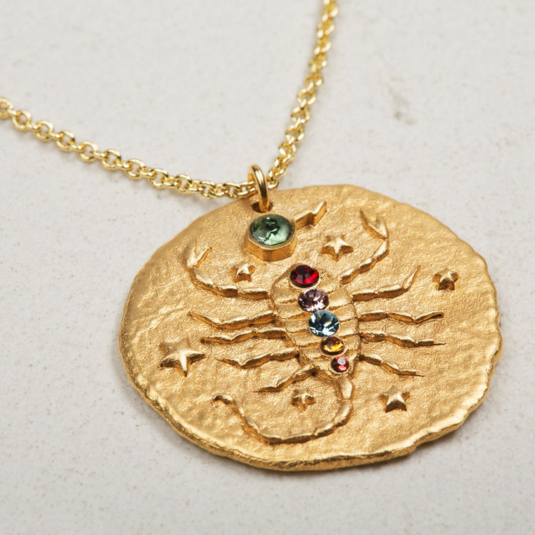Scorpio zodiac sign necklace : Jewelry color GOLD