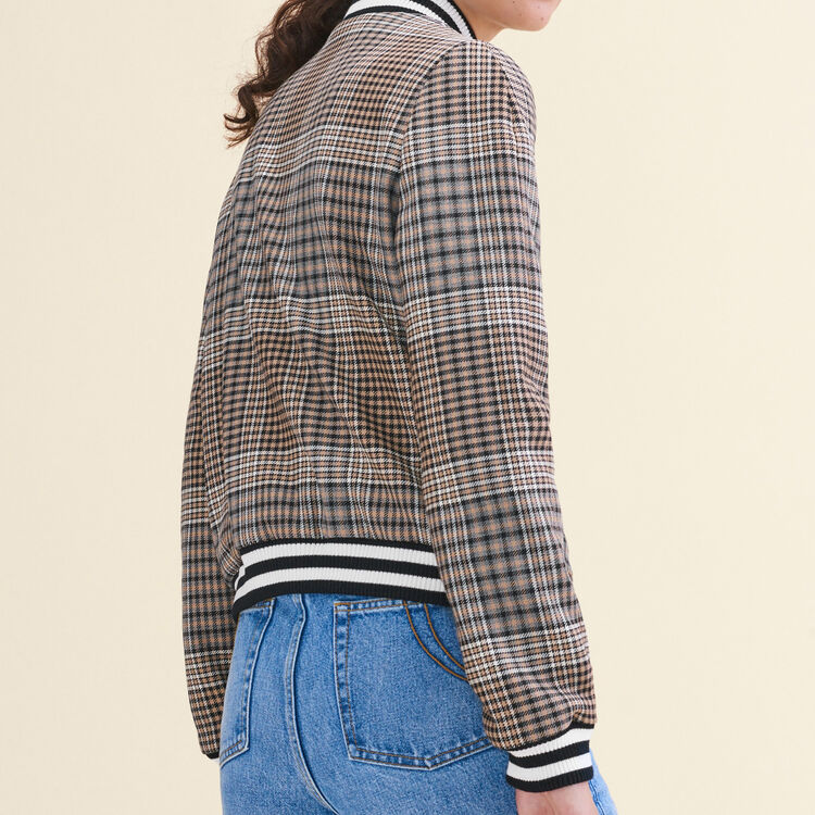 Teddy-style checked jacket : Coats & Jackets color Jacquard