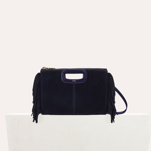 M Duo clutch in suede : New Collection color Navy