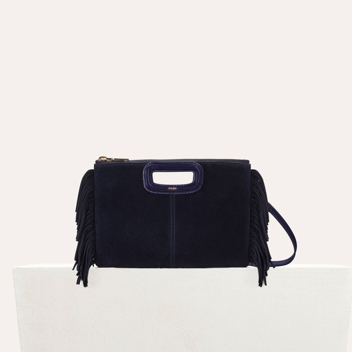 M Duo clutch in suede : Bags color Navy