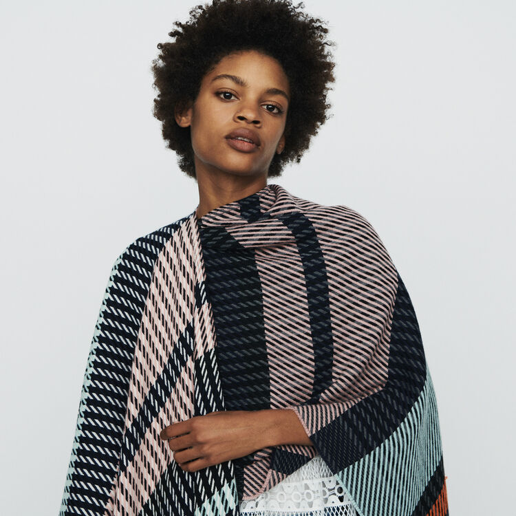 Poncho in stripes : Scarves & Ponchos color Multico