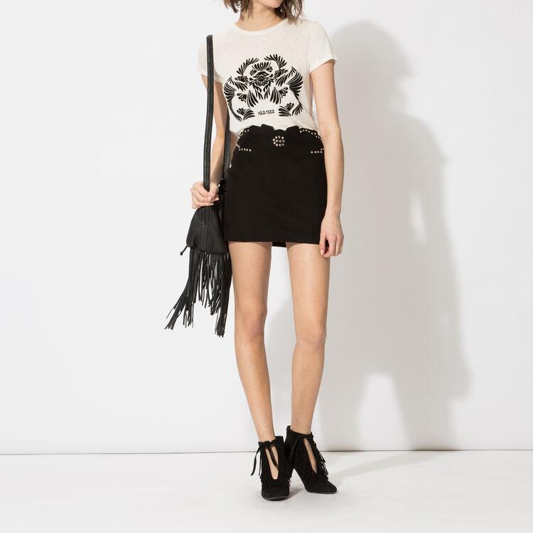 Goatskin miniskirt : Copy of Sale color