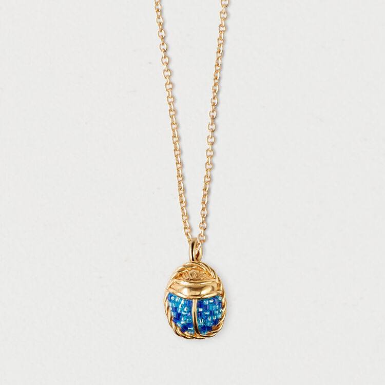 Scarab necklace : Jewelry color GOLD