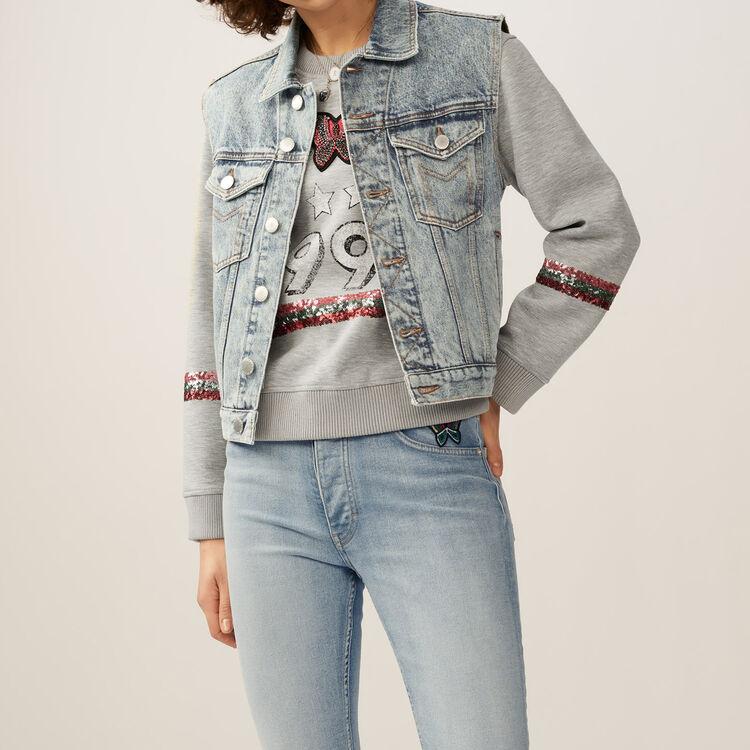 Denim vest : Coats & Jackets color Blue