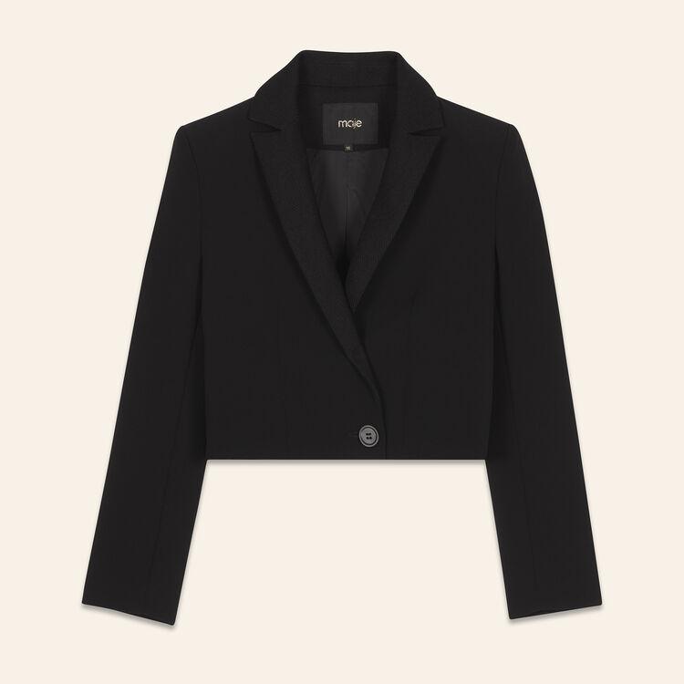Short jacket : Coats & Jackets color Black 210
