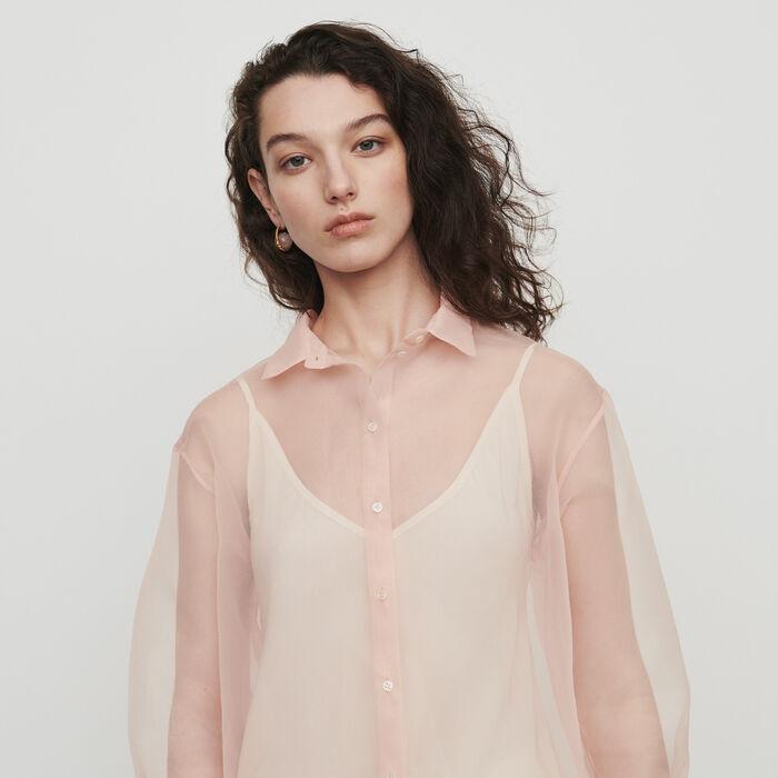 Organza-style shirt : Tops & T-Shirts color Mandarine