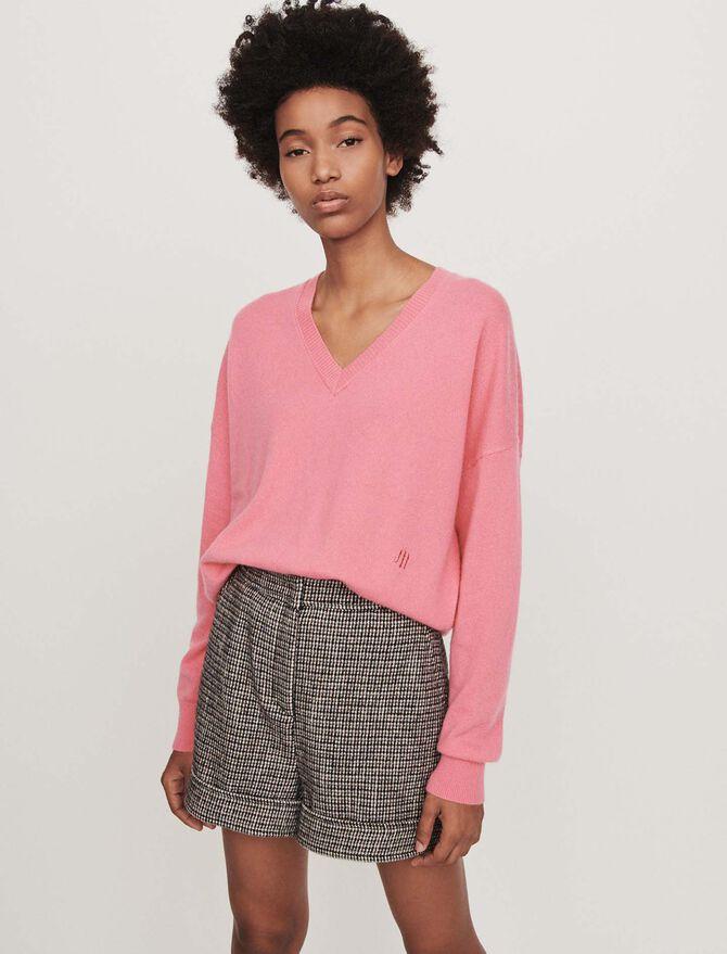 Cashmere V-neck sweater - Sweaters - MAJE
