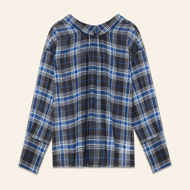 Loose checked top : null color