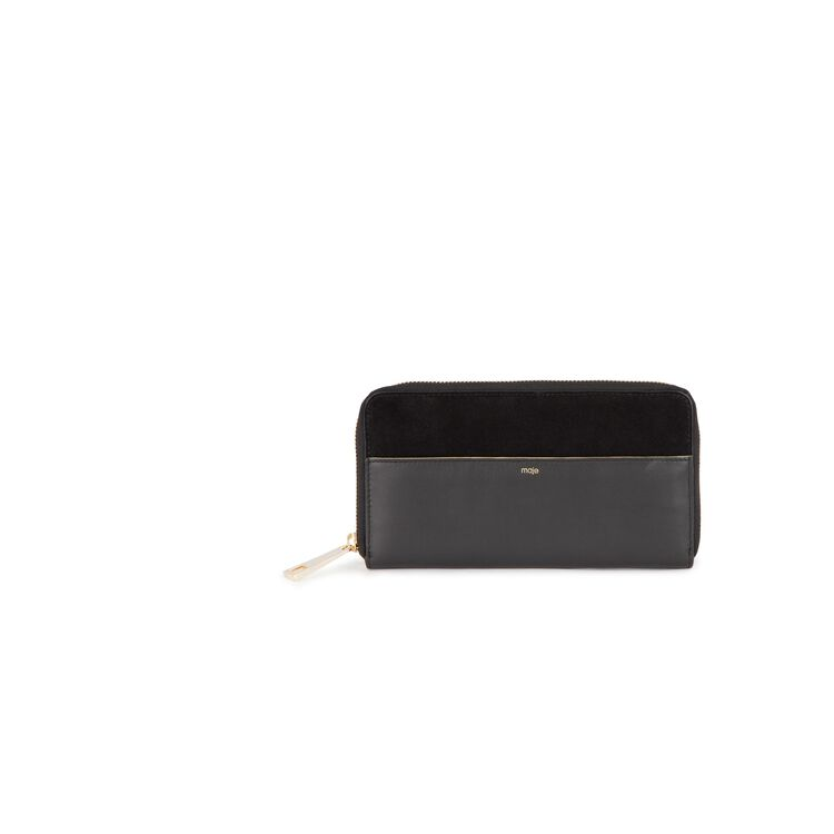 Leather and suede wallet : Valentine's color