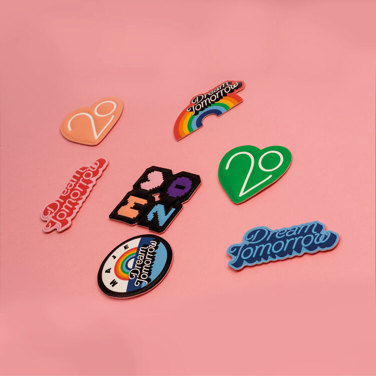 Patch Badge X 20 years : Other Accessories color Pink