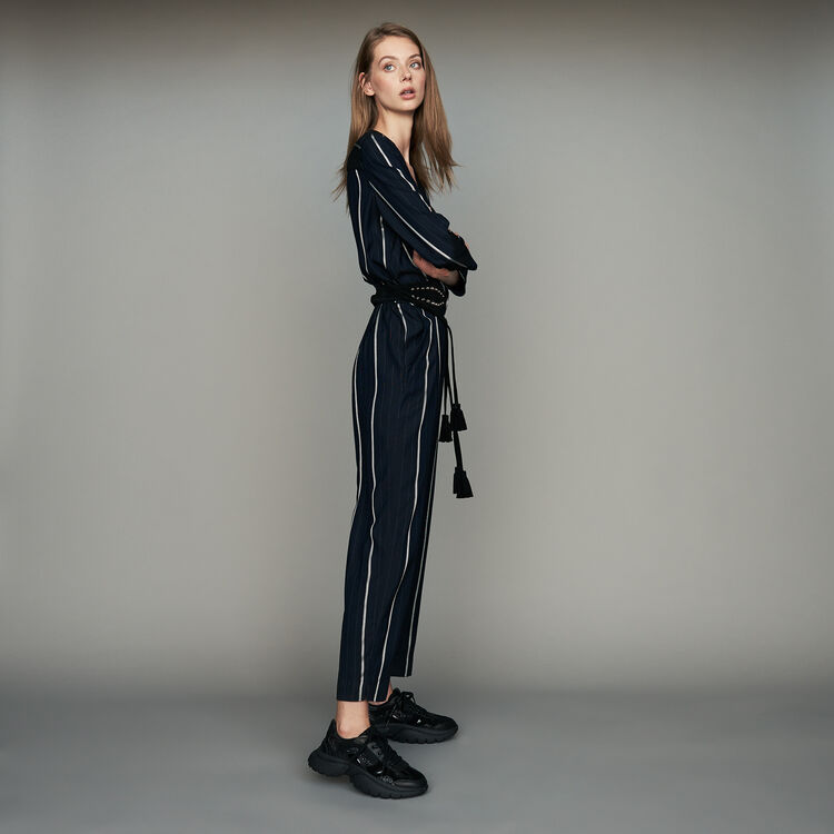 Striped jumpsuit : Pants & Jeans color Navy