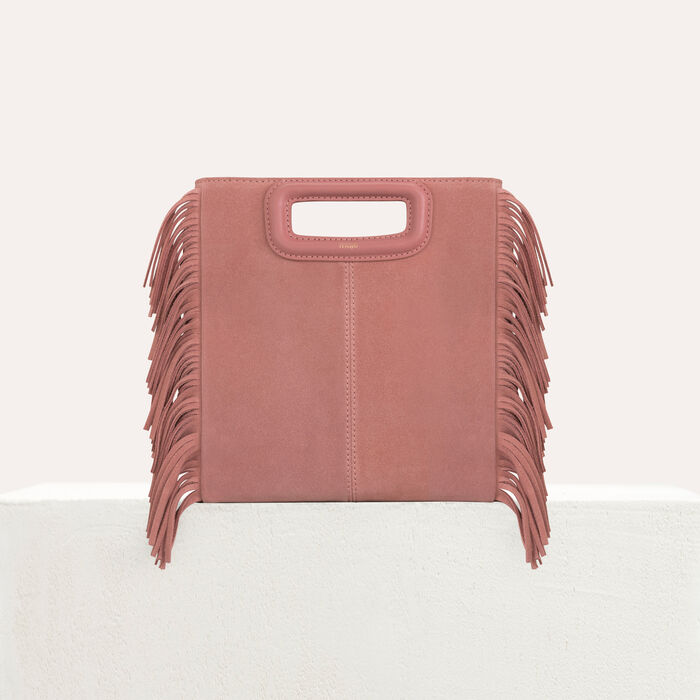 M bag with suede fringes : M Bags color Pink