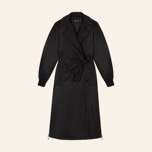 Trench coat with side zips : Coats & Jackets color Black 210