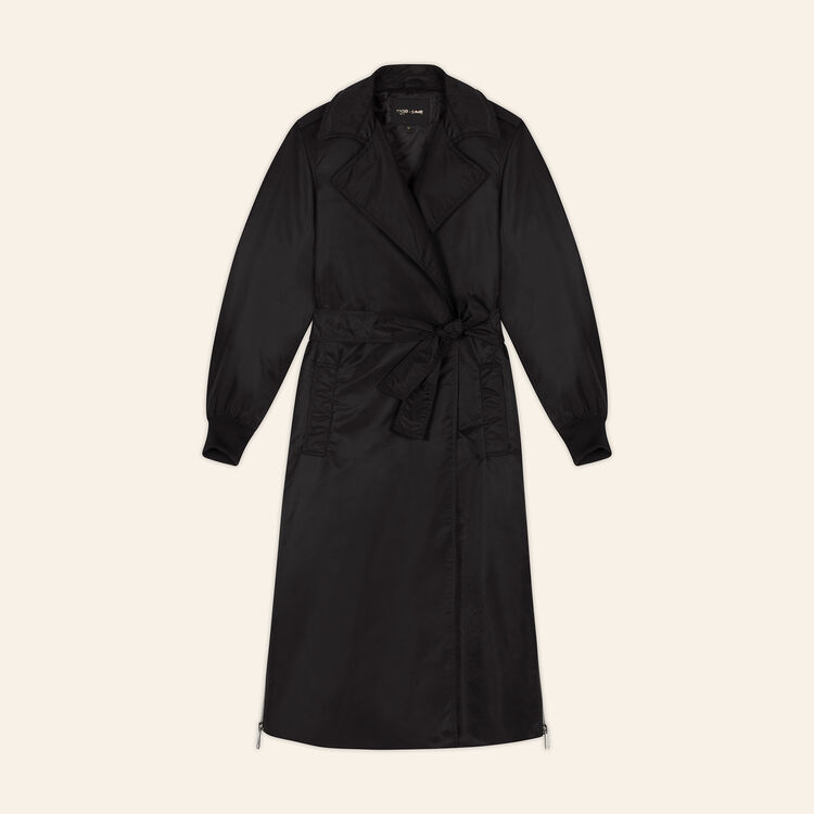 Trench coat with side zips : null color