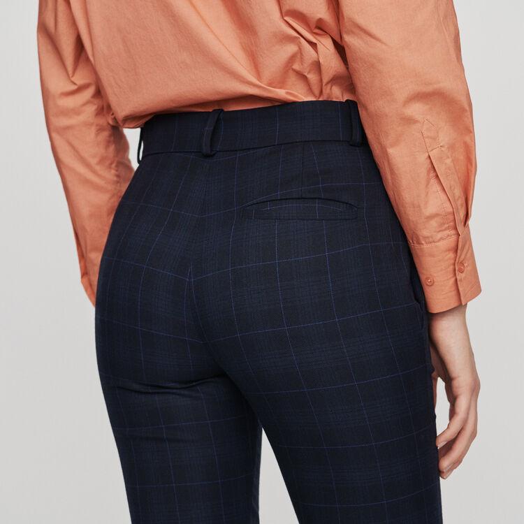 7/8 plaid pants : Pants & Jeans color Navy
