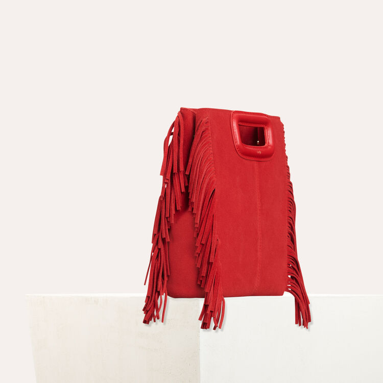 M bag in suede : The Essentials color Red