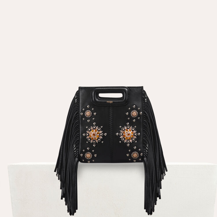 Mini M bag in leather with studs : Bags color Black 210