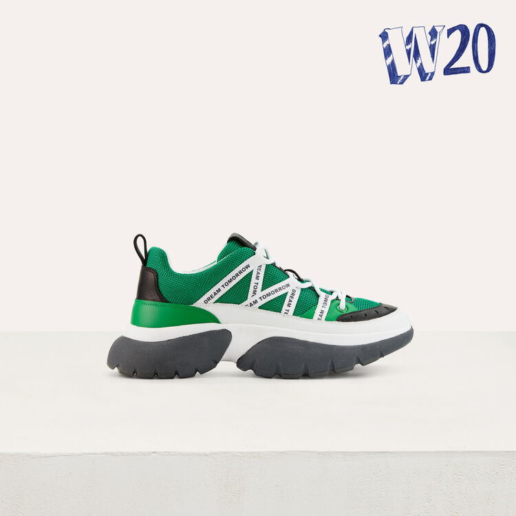 W20 Urban sneakers in nylon : Shoes color Green
