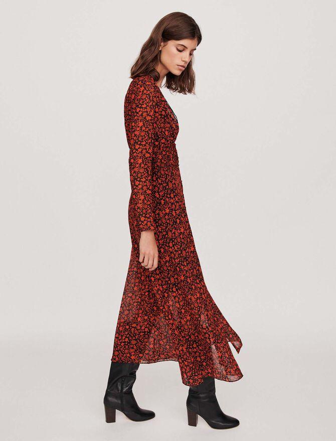 Floral print long dress - Dresses - MAJE