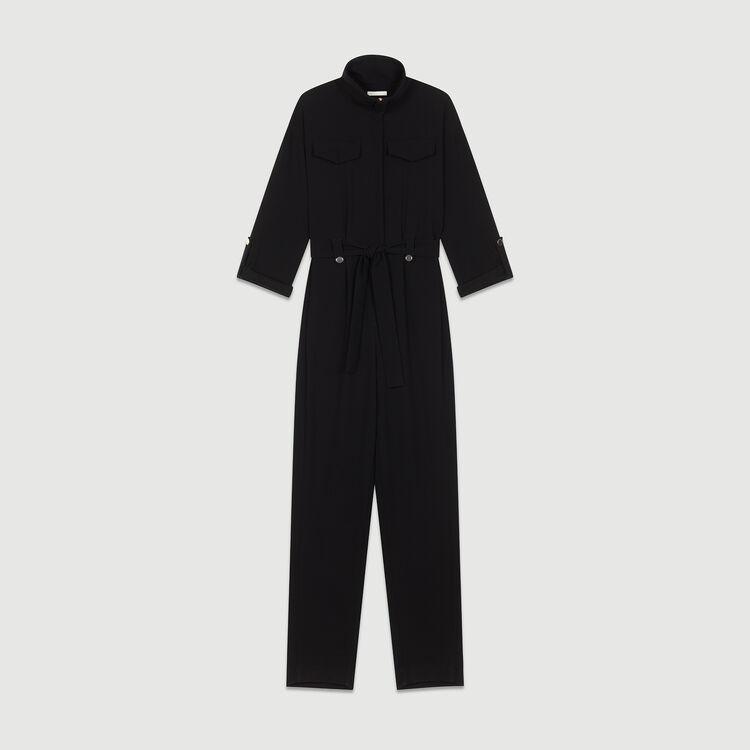 Crepe jumpsuit : Jumpsuits & Rompers color Black