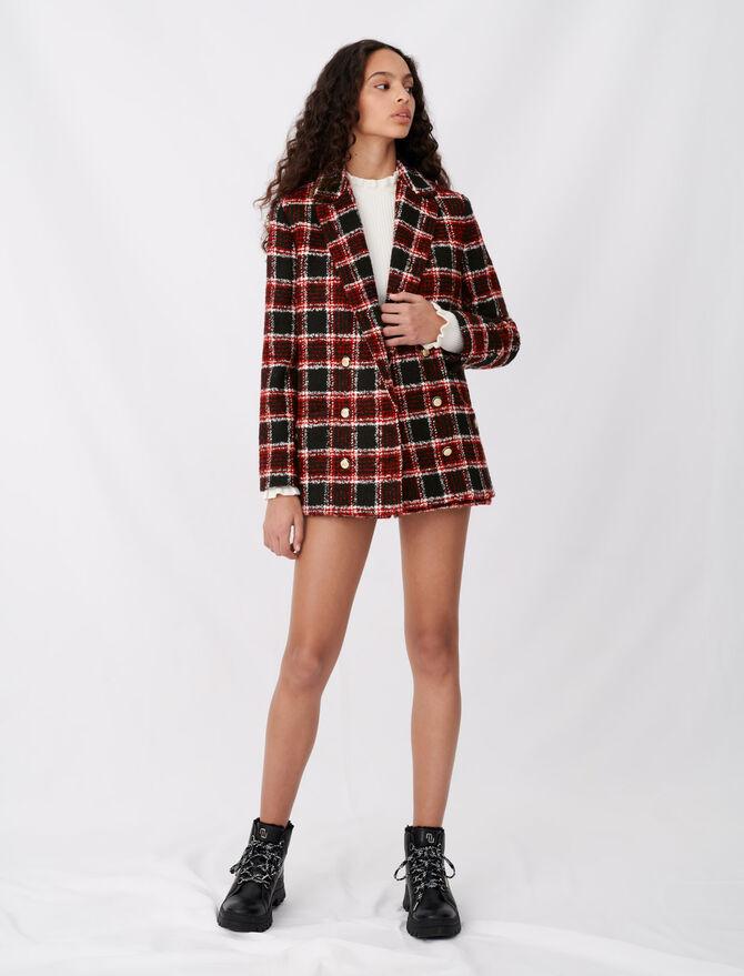 Tweed-style checked jacket - Coats & Jackets - MAJE