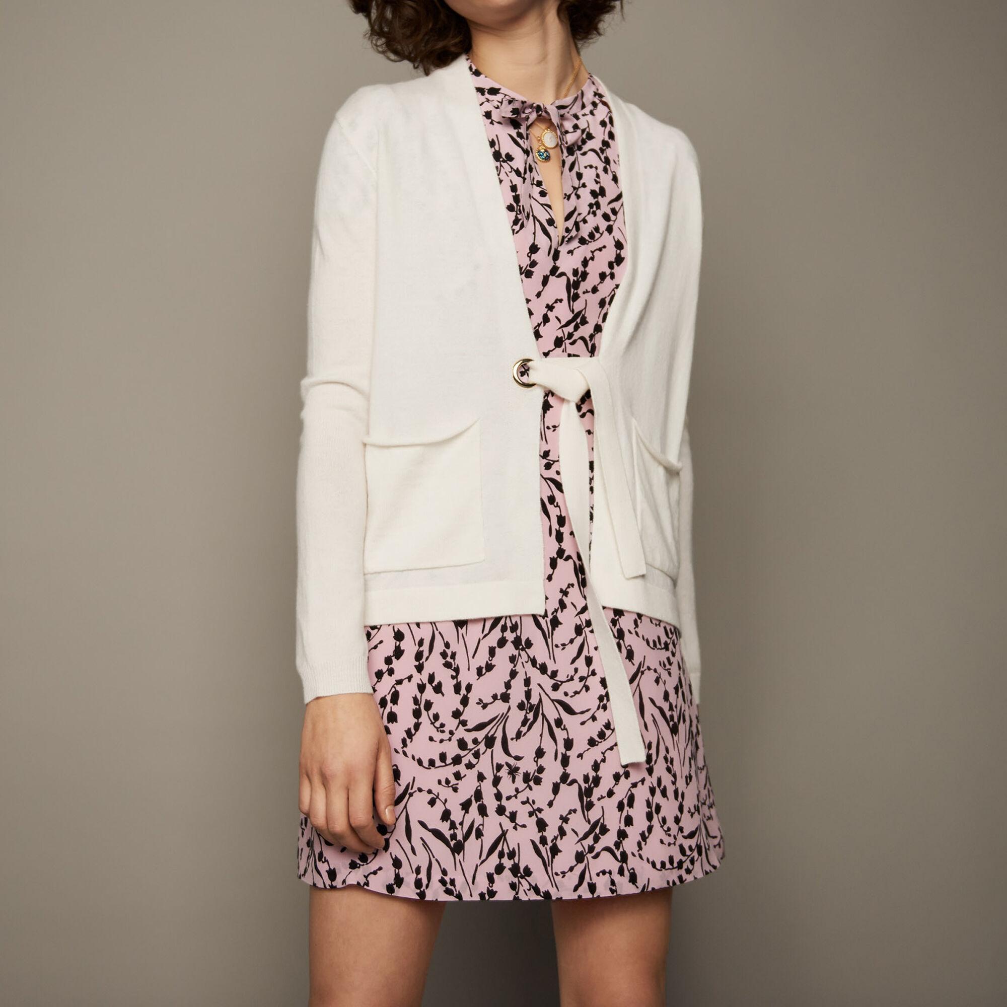 Sweaters true Fine-knit wool and cashmere vest : Sweaters color Ecru