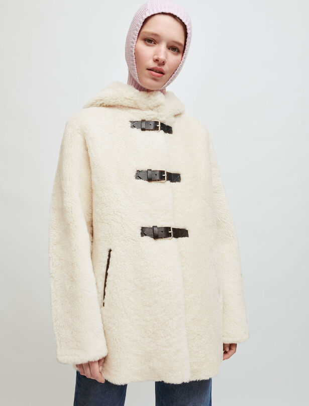 마쥬 MAJE Shearling coat,Beige