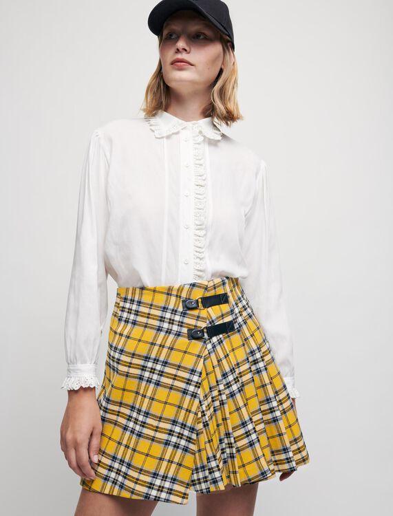 Kilt-style checked pleated skirt - Skirts & Shorts - MAJE