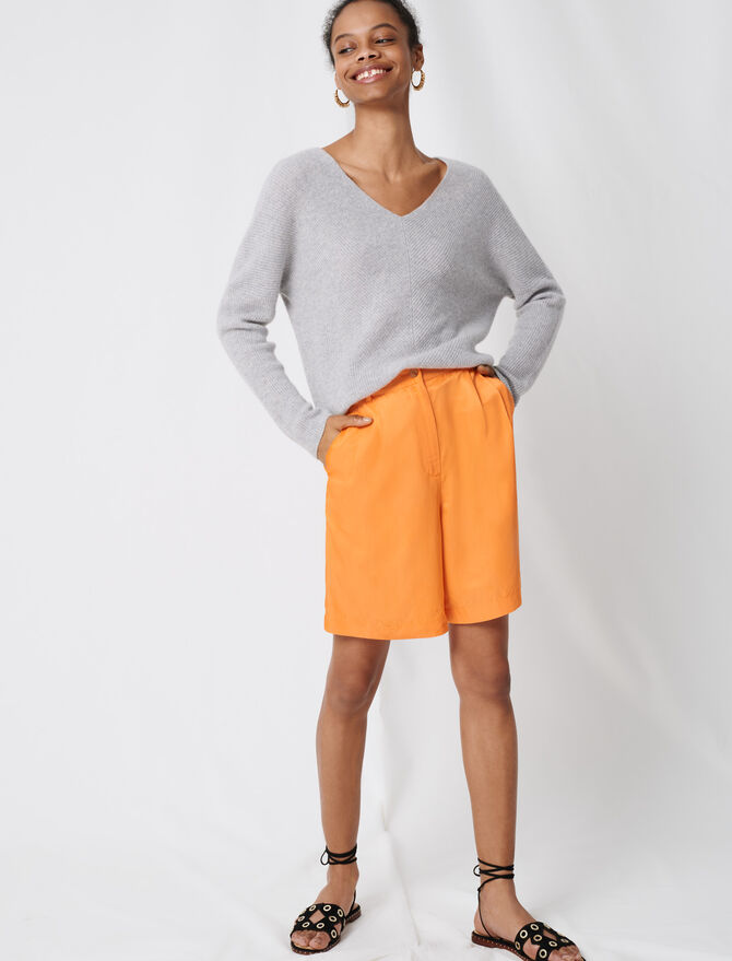 Cashmere V-neck sweater - The Essentials - MAJE