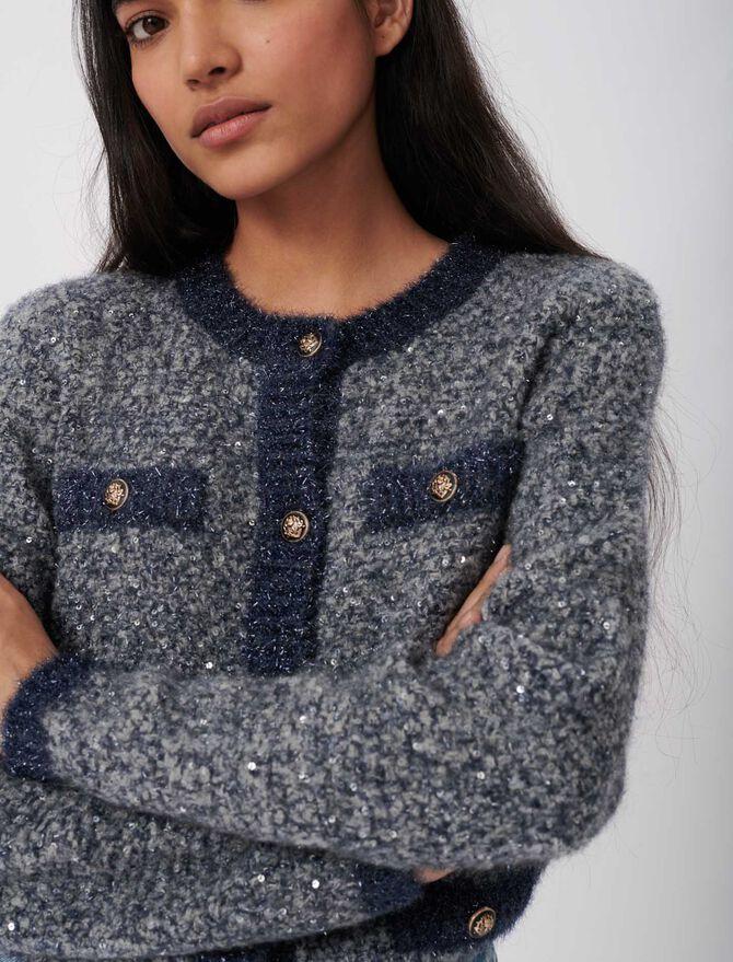 Fancy Lurex knit cardigan - The Essentials - MAJE