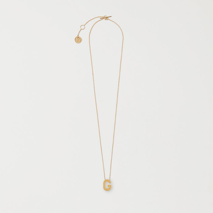 Necklace with initial pendant -  - MAJE