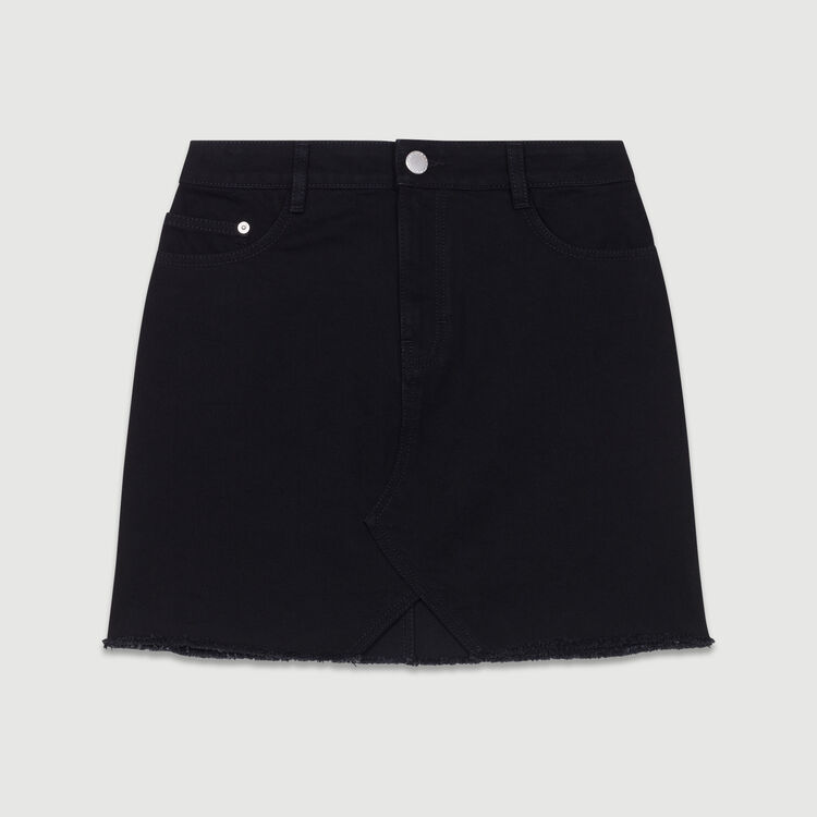 Short denim skirt : Skirts & Shorts color Black 210
