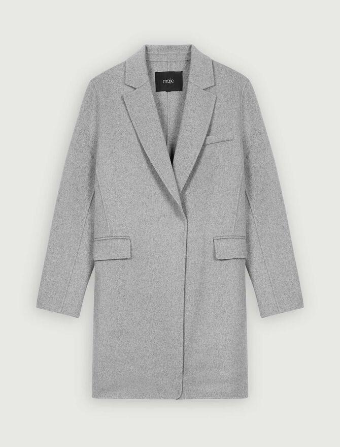 Double face cropped coat -  - MAJE