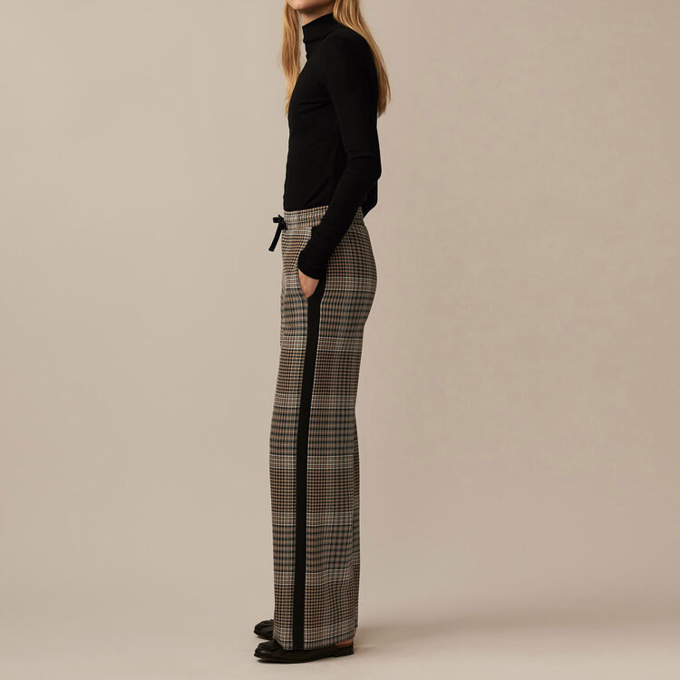 Checked jogging bottoms : Pants & Jeans color Jacquard