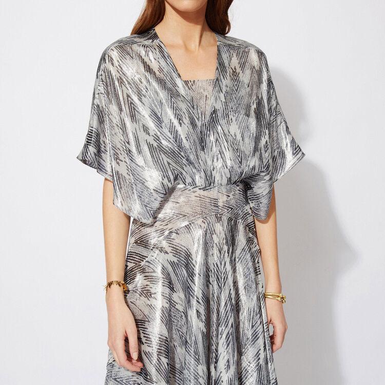 Long printed kimono dress : Copy of Sale color