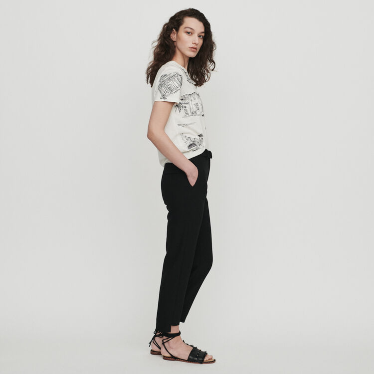 Straight belted pants : Pants & Jeans color Black