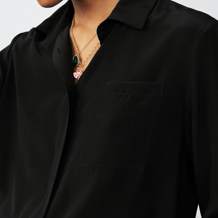 Silk blouse : Tops & Shirts color Black 210