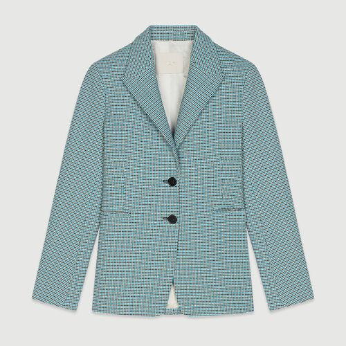 Suit tweed-style jacket : Coats & Jackets color Blue