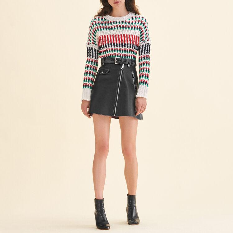 Decorative multi-coloured knit jumper : null color